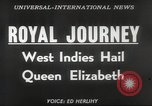 Image of Queen Elizabeth II Jamaica, 1953, second 2 stock footage video 65675062537