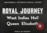 Image of Queen Elizabeth II Jamaica, 1953, second 4 stock footage video 65675062537