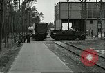 Image of A-4 missile towed for simulated launch at Test Stand 5 Peenemunde Germany, 1943, second 3 stock footage video 65675062547