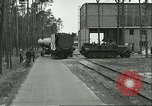 Image of A-4 missile towed for simulated launch at Test Stand 5 Peenemunde Germany, 1943, second 6 stock footage video 65675062547
