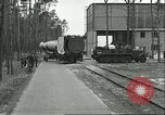 Image of A-4 missile towed for simulated launch at Test Stand 5 Peenemunde Germany, 1943, second 8 stock footage video 65675062547
