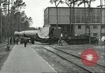 Image of A-4 missile towed for simulated launch at Test Stand 5 Peenemunde Germany, 1943, second 11 stock footage video 65675062547