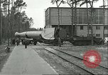 Image of A-4 missile towed for simulated launch at Test Stand 5 Peenemunde Germany, 1943, second 12 stock footage video 65675062547