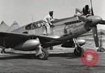 Image of Ground crewmwn servicing P-51s of the 332nd Fighter Group Termoli Italy, 1944, second 2 stock footage video 65675062602