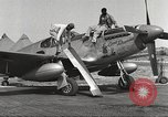 Image of Ground crewmwn servicing P-51s of the 332nd Fighter Group Termoli Italy, 1944, second 10 stock footage video 65675062602