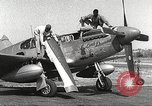 Image of Ground Crewmen of 332nd Fighter Group maintain P-51s Termoli Italy, 1944, second 8 stock footage video 65675062615