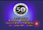 Image of inaugural ceremony Washington DC USA, 1985, second 2 stock footage video 65675062616