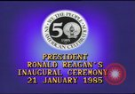Image of inaugural ceremony Washington DC USA, 1985, second 4 stock footage video 65675062616