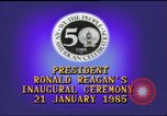 Image of inaugural ceremony Washington DC USA, 1985, second 6 stock footage video 65675062616