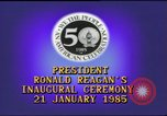 Image of inaugural ceremony Washington DC USA, 1985, second 7 stock footage video 65675062616