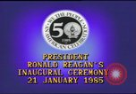 Image of inaugural ceremony Washington DC USA, 1985, second 8 stock footage video 65675062616