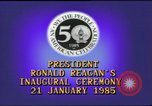 Image of inaugural ceremony Washington DC USA, 1985, second 11 stock footage video 65675062616