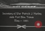 Image of Patrick J Hurley Fort Bliss Texas USA, 1931, second 6 stock footage video 65675062673