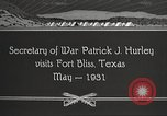Image of Patrick J Hurley Fort Bliss Texas USA, 1931, second 8 stock footage video 65675062673