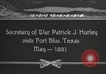 Image of Patrick J Hurley Fort Bliss Texas USA, 1931, second 9 stock footage video 65675062673