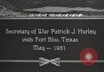 Image of Patrick J Hurley Fort Bliss Texas USA, 1931, second 10 stock footage video 65675062673