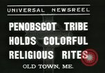 Image of Penobscot tribe Old Town Maine USA, 1937, second 2 stock footage video 65675062688