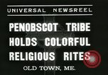 Image of Penobscot tribe Old Town Maine USA, 1937, second 3 stock footage video 65675062688