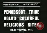 Image of Penobscot tribe Old Town Maine USA, 1937, second 6 stock footage video 65675062688