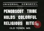Image of Penobscot tribe Old Town Maine USA, 1937, second 9 stock footage video 65675062688