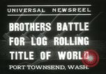 Image of log-rolling championship Port Townsend Washington USA, 1937, second 2 stock footage video 65675062689