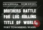 Image of log-rolling championship Port Townsend Washington USA, 1937, second 4 stock footage video 65675062689