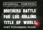 Image of log-rolling championship Port Townsend Washington USA, 1937, second 6 stock footage video 65675062689