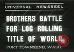 Image of log-rolling championship Port Townsend Washington USA, 1937, second 10 stock footage video 65675062689
