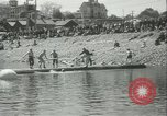 Image of log-rolling championship Port Townsend Washington USA, 1937, second 11 stock footage video 65675062689