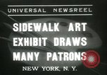 Image of painting exhibition New York United States USA, 1937, second 1 stock footage video 65675062690