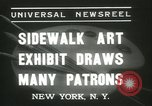 Image of painting exhibition New York United States USA, 1937, second 2 stock footage video 65675062690