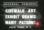 Image of painting exhibition New York United States USA, 1937, second 3 stock footage video 65675062690