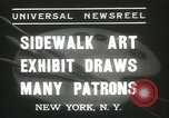 Image of painting exhibition New York United States USA, 1937, second 4 stock footage video 65675062690