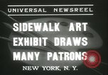 Image of painting exhibition New York United States USA, 1937, second 7 stock footage video 65675062690