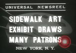 Image of painting exhibition New York United States USA, 1937, second 8 stock footage video 65675062690