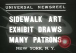 Image of painting exhibition New York United States USA, 1937, second 9 stock footage video 65675062690
