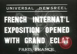 Image of International Exposition Paris 1937 Paris France, 1937, second 1 stock footage video 65675062691