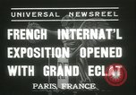 Image of International Exposition Paris 1937 Paris France, 1937, second 3 stock footage video 65675062691
