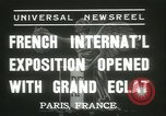 Image of International Exposition Paris 1937 Paris France, 1937, second 6 stock footage video 65675062691