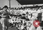 Image of Detroit Tigers baseball team Florida United States USA, 1950, second 2 stock footage video 65675062754