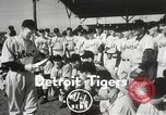 Image of Detroit Tigers baseball team Florida United States USA, 1950, second 3 stock footage video 65675062754