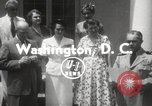 Image of Genevieve de Galard-Terraube Washington DC USA, 1954, second 8 stock footage video 65675062758