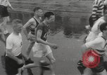 Image of 100 mile walking race United Kingdom, 1954, second 12 stock footage video 65675062763