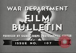Image of U.S. Army movies for soldiers during World War II United States USA, 1943, second 4 stock footage video 65675062805