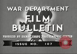 Image of U.S. Army movies for soldiers during World War II United States USA, 1943, second 7 stock footage video 65675062805