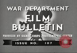 Image of U.S. Army movies for soldiers during World War II United States USA, 1943, second 9 stock footage video 65675062805