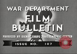 Image of U.S. Army movies for soldiers during World War II United States USA, 1943, second 10 stock footage video 65675062805