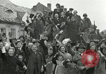 Image of 16th Armored Division greeted by Czech citizens Pilsen Czechoslovakia, 1945, second 5 stock footage video 65675062817