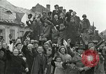 Image of 16th Armored Division greeted by Czech citizens Pilsen Czechoslovakia, 1945, second 6 stock footage video 65675062817