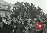 Image of 16th Armored Division greeted by Czech citizens Pilsen Czechoslovakia, 1945, second 7 stock footage video 65675062817